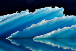 Iceberg in Greenland.  Blue!