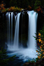 Gorgeous professional photograph of Koosah Falls in Oregon.
