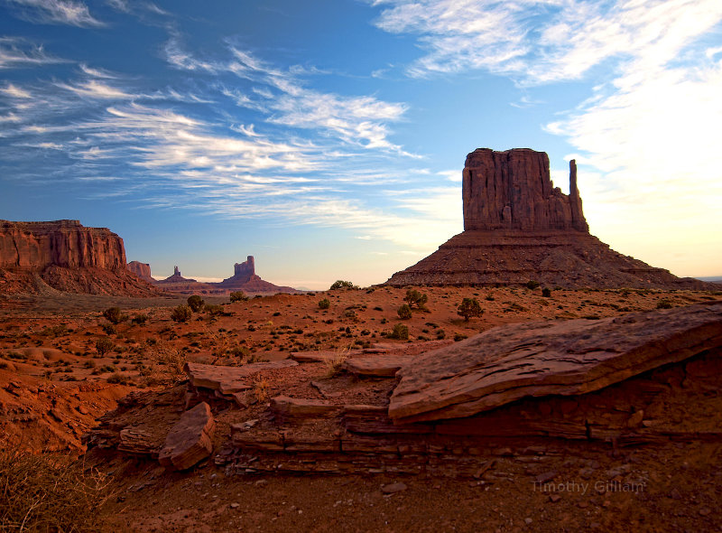 Monument Valley, AZ.  Sunscreen, desert tours, bug spray.  Nature picture.