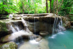 Erawan Waterfalls, Erawan National Park, Kanchanaburi, Thailand.  250km north-west of Bangkok.