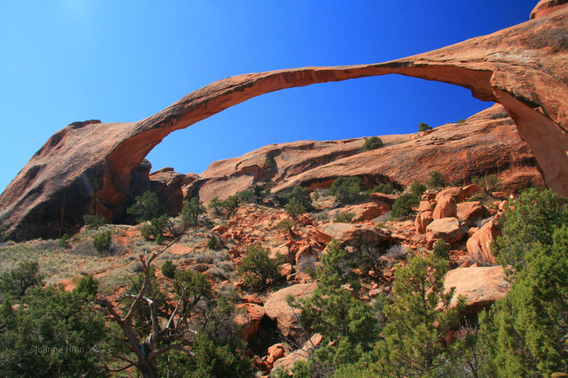 Stone Arch, natural arch, Arches National Park, Utah.
