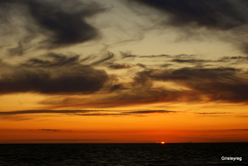 Bridgwater Bay sunset, Somerset.  Nature picture