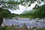 salmon river, Glen Nevis, Scotland.