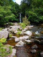 Waterfall in Brecon Beacons, Wales.