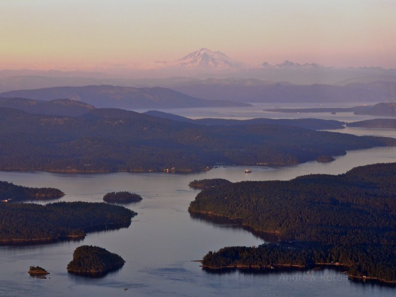 Mt. Baker, Cascades, San Juan Islands.  Washington State.