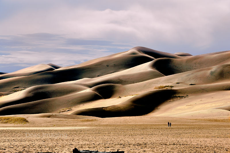 Giant sand dunes in Great Sand Dunes National Park