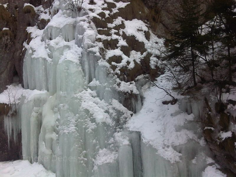 Frozen waterfall in Southern Transylvania.