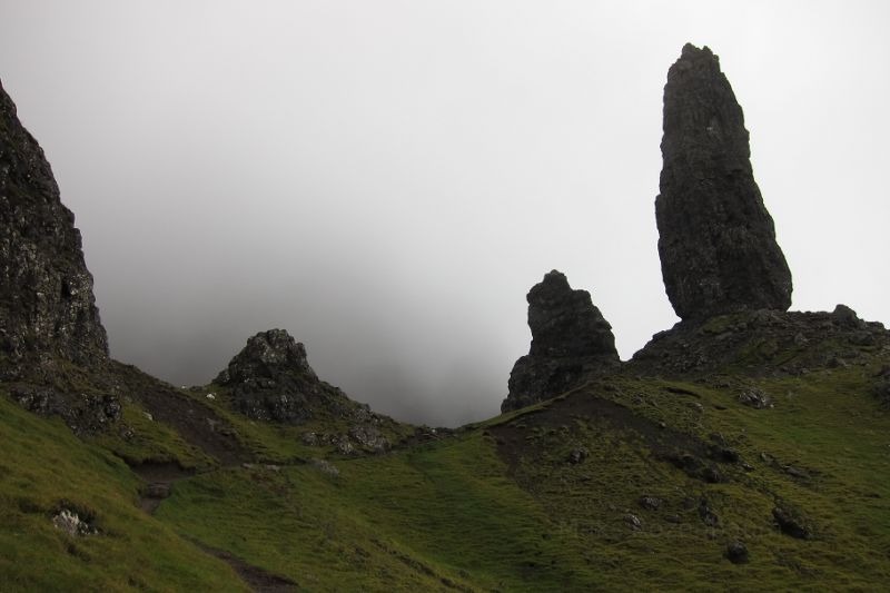Rock towers in Scotland.