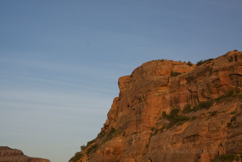 Rock face above the Colorado River, near Moab Utah