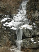 Frozen waterfall in Iran