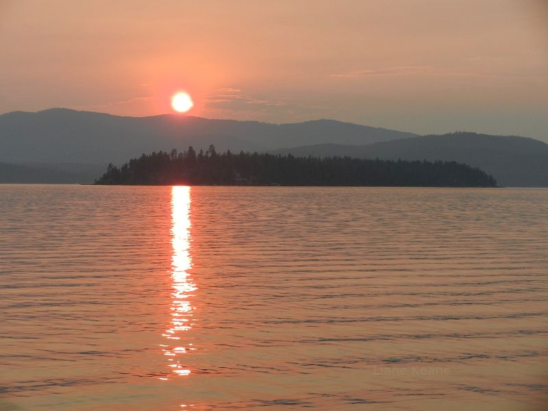 Sunset on Lake Pend Oreille
