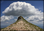 Clouds over Mount Sibilla in Italy