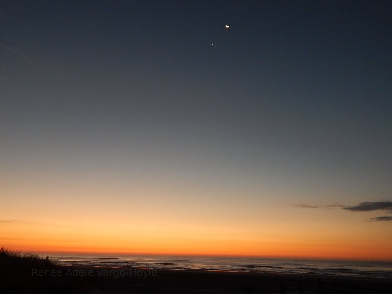 The Moon and Venus As seen from Avalon, NJ
