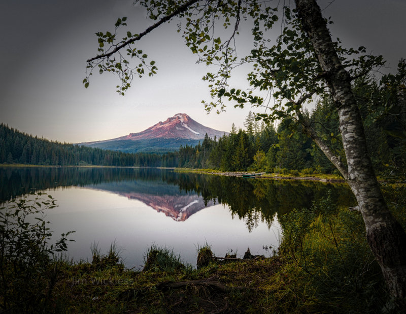Gorgeous evening shot of Mt. Hood