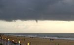 Ominous clouds near Virginia Beach, Virginia