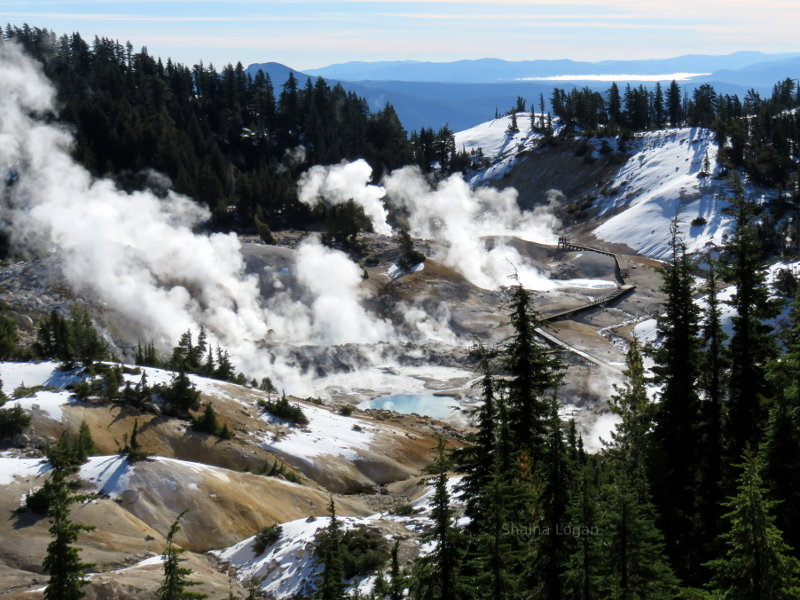 Hot springs at Bumpass Hell in Lassen Volcanic National Park