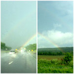 A double rainbow in Western Pennsylvania