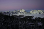 Sunrise over the Grand Tetons