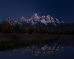 Incredible shot of the pre-dawn Tetons in Wyoming
