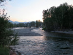 Sunset over Salmon River