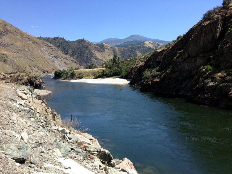 Beach on the Snake River