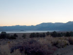 Mono Lake at evening civil twilight.