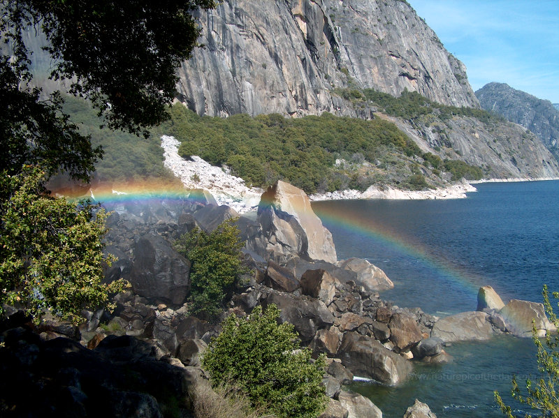 Rainbow at Hetch Hetchy in Yosemite