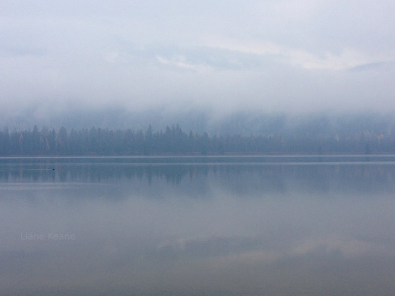 Fog on the Clark Fork.