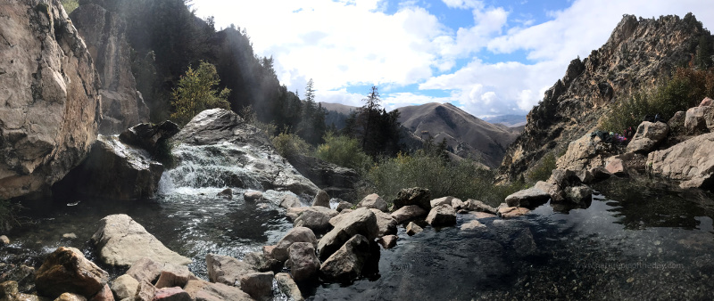 Beautiful Goldbug Hot Springs in Idaho
