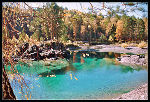 Swimming pool, swimming hole, turquoise color, nature picture.