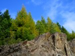 Cliffs, hiking, larch trees