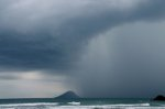 Storm over the ocean in Brazil